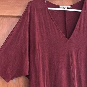 Looong red comfy slinky dress